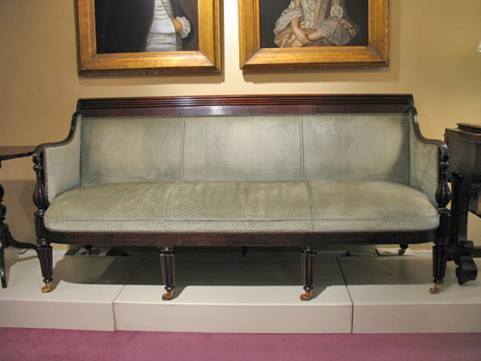 Fine American Mahogany Sofa Attributed To William Camp Baltimore,  1815 1822. Literature: Furniture In Maryland, 1740 1940, Gregory R. Weidman