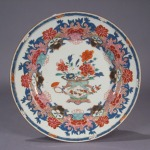 Famille rose plate 1730