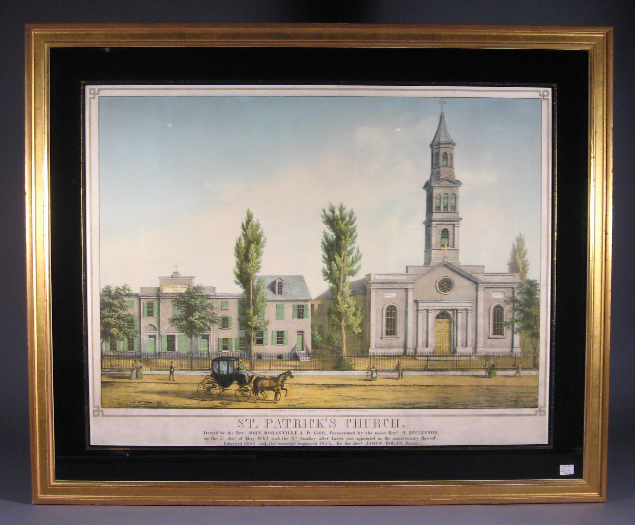 Sachse Lithograph Of St Patrick S Church In Baltimore Md
