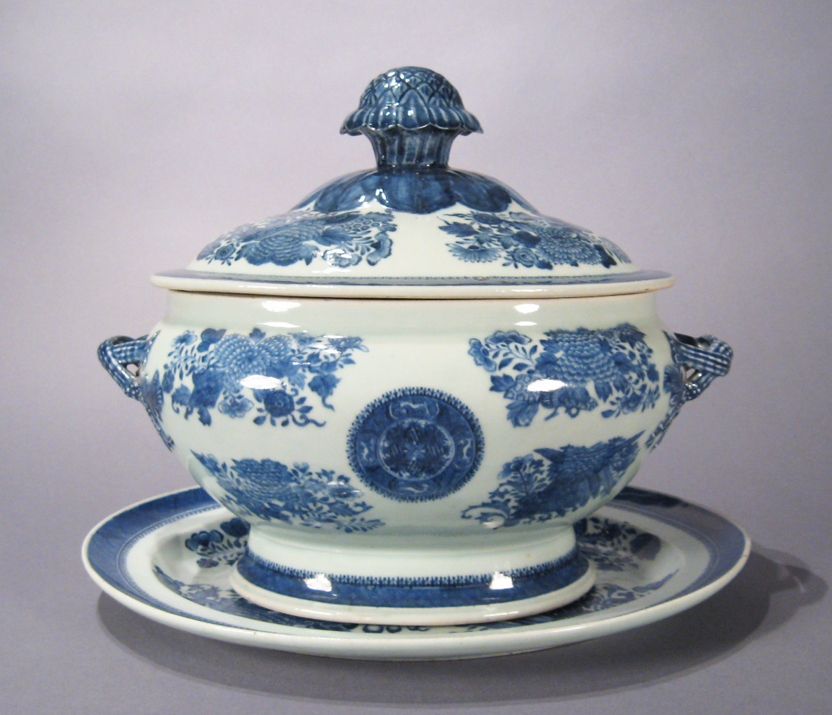 Home Decorative Lighting Chinese Export Porcelain Blue And White Soup Tureen C 1810
