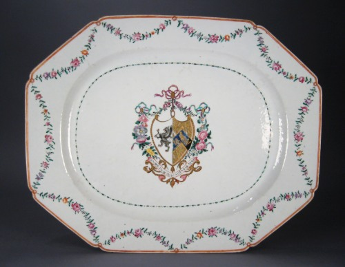 Armorial arms of Morgan platter