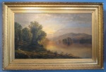 Edmund Darch Lewis large Susquehanna oil on canvas