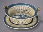 Blue and white reticulated basket nanking 1790