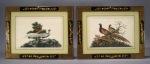 Chinese gouache pair birds 1840