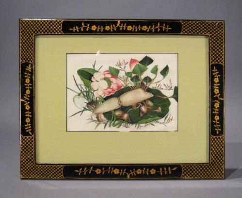Chinese gouache pair floral1840 detail 2
