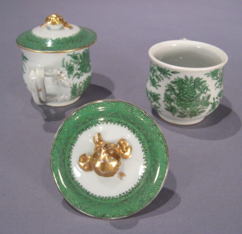 Fitzhugh green syllabub cups detail