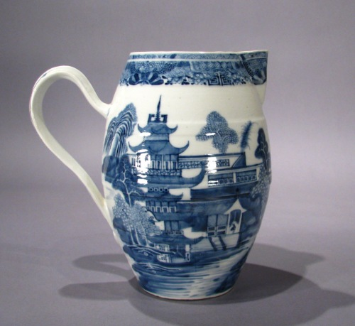 Mason Ironstone blue and white cider jug 1790