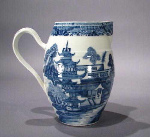 Mason Ironstone blue and white cider jug 1790