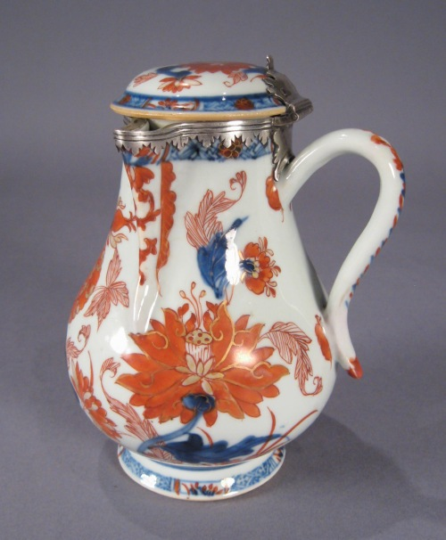Chinese imari chocolate pot 1700