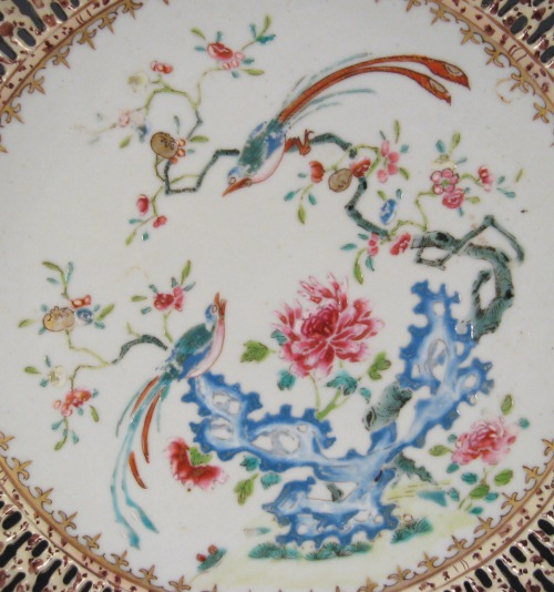 Chinese reticulated plate detail