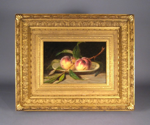 Peale still life peaches oil on canvas