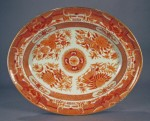 Orange fitzhugh platter 1790