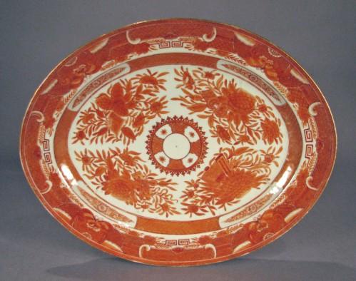 Orange fitzhugh platter ending in 25(1)