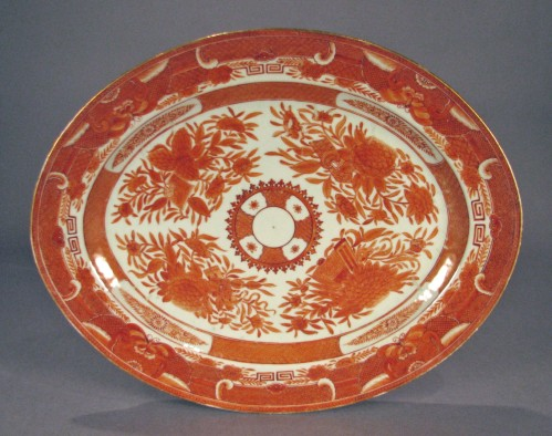 Orange fitzhugh platter ending in 25(1)