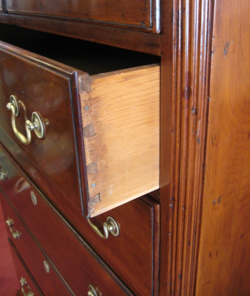 Chester County tall chest detail 1