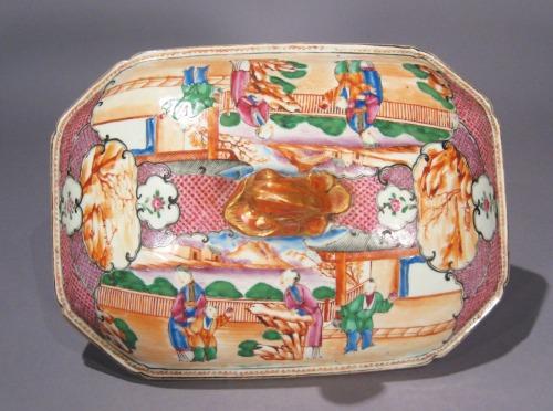 Mandarin pallet soup tureen detail 2