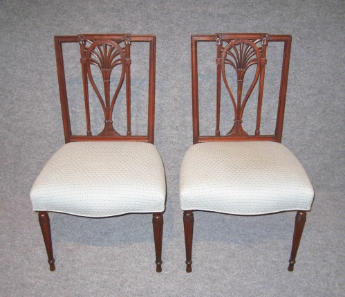 Philadelphia racquet back side chairs 1810