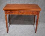 Rhode Island federal inlaid game table 1810