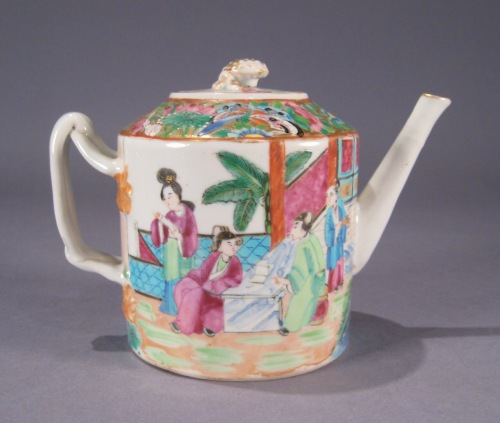 Rose mandarin teapot small detail