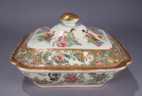 Rose mandarin vegetable tureen