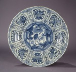 Blue and white kraak ware charger