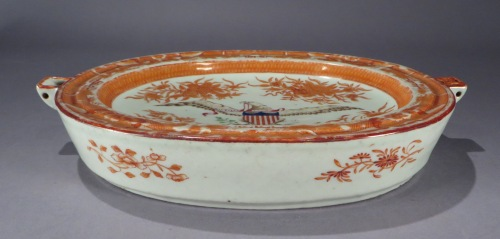 Orange fitzhugh eagle hot water dish detail