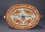 Orange fitzhugh eagle hot water dish