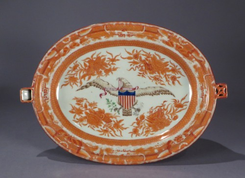 Orange fitzhugh eagle hot water dish