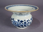 Blue and white nanking cargo spittoon
