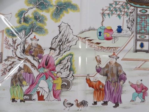 Spode platter with Mandarin motif detail