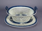 Blue and white Fitzhugh reticulated basket