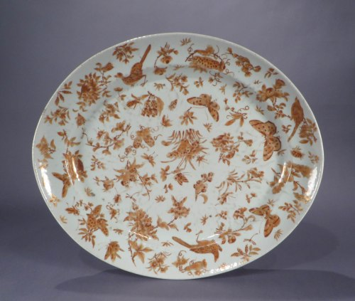Sacred bird and butterfly platter