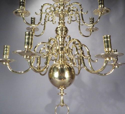 Brass chandelier detail 1