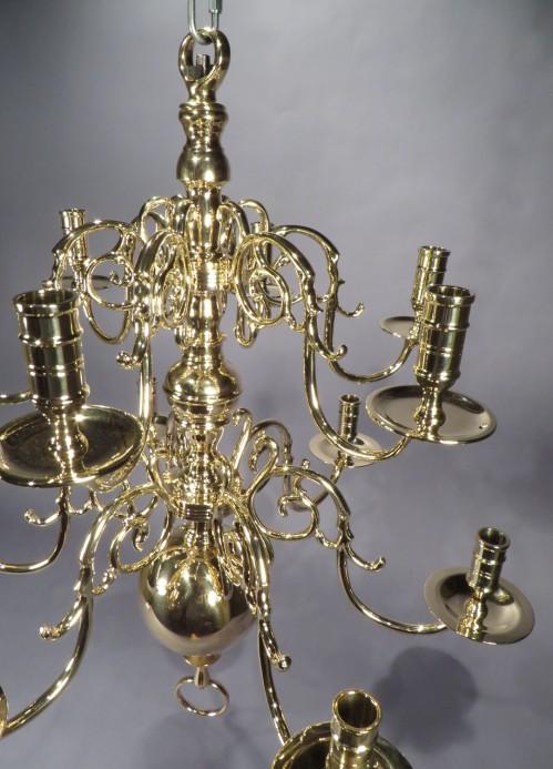 Brass chandelier detail 2