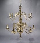 Brass chandelier