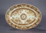 Brown fitzhugh sauce tureen underplate