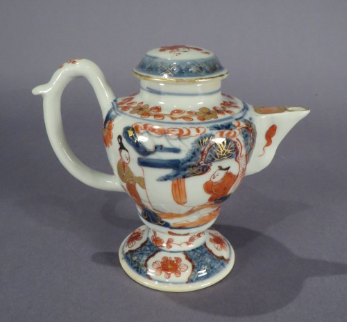 Chinese Imari oil lamp detail 2