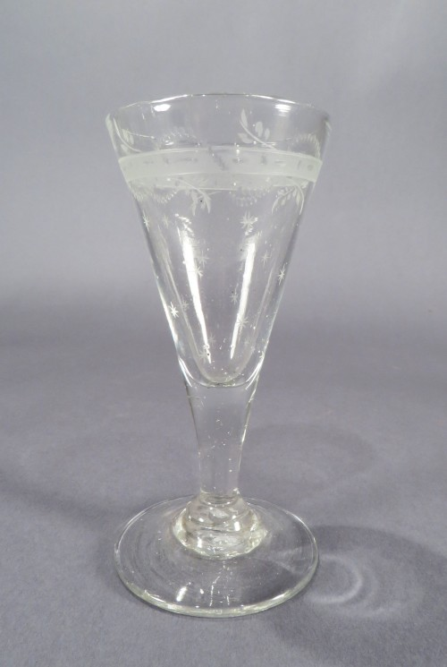 Federal glasses decanters wine rummers detail 3