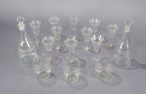 Federal glasses decanters wine rummers