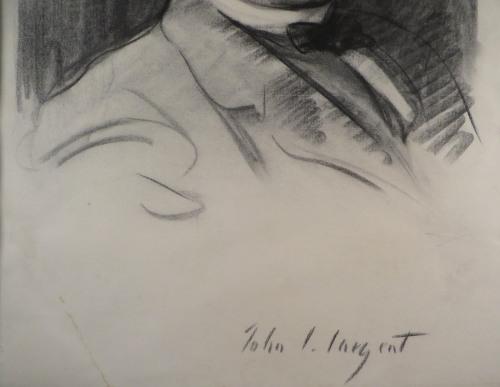 Sargent charcoal portrait detail 1