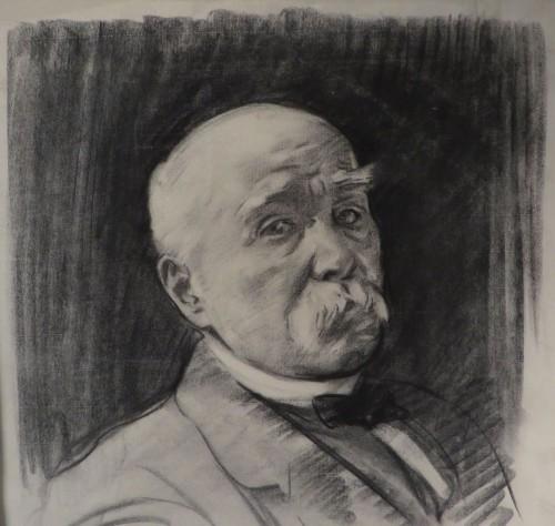 Sargent charcoal portrait detail 2