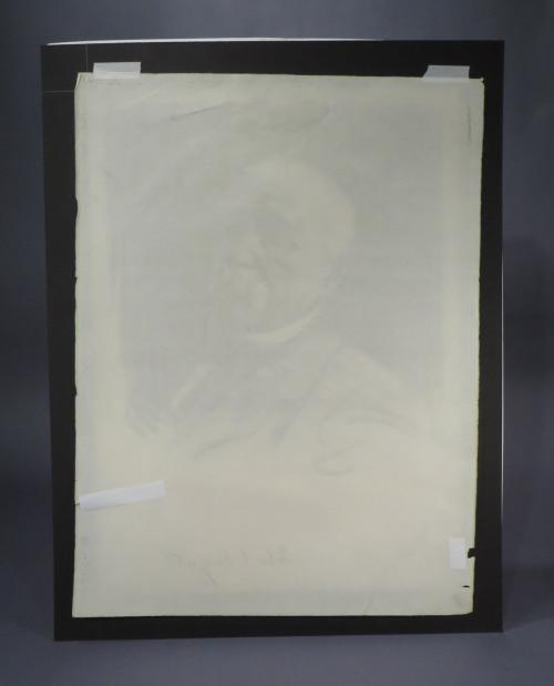 Sargent charcoal portrait detail 3