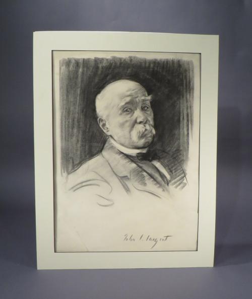 Sargent charcoal portrait