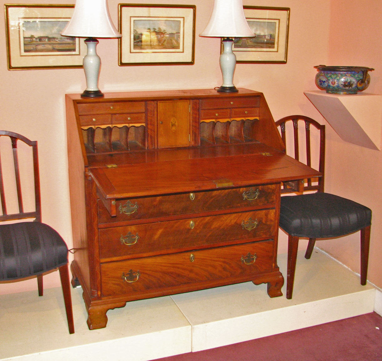 Slant front desk - Pennsylvania Slant Front Desk C.1790 DUBEY'S ART & ANTIQUES