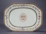 Armorial platters pair jackson 1775 detail 1