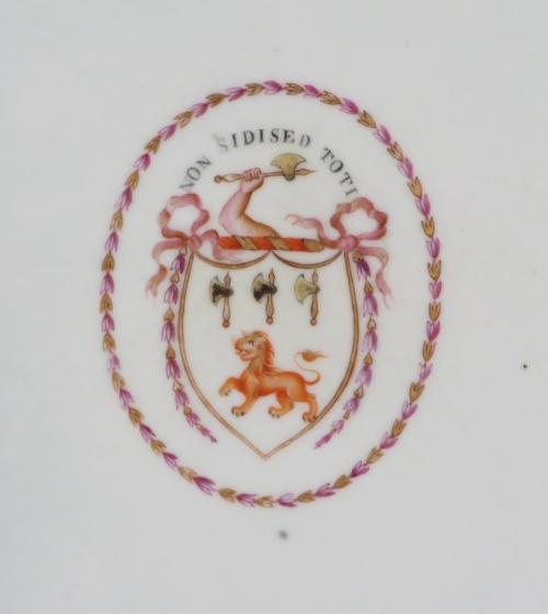 Armorial platters pair jackson 1775 detail 2