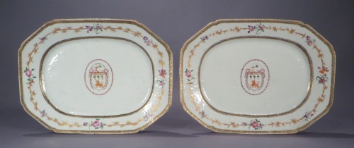 Armorial platters pair jackson 1775