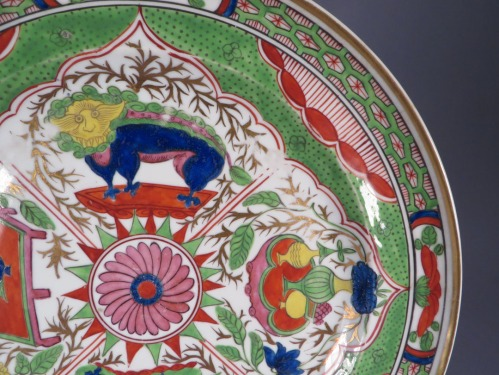 Pair of bengal tiger plates detail 2
