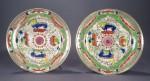 Pair of bengal tiger plates