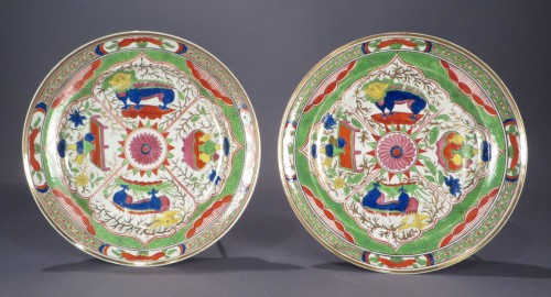 Pair of bengal tiger plates